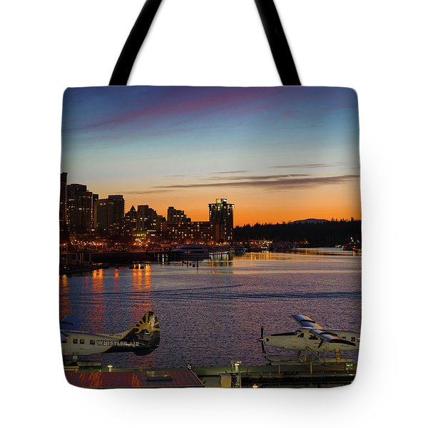 Tote Bag featuring the photograph Harbour Nights by Ross G Strachan