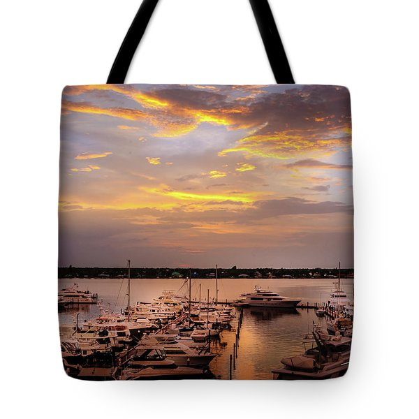 Harbour Sunsent Tote Bag