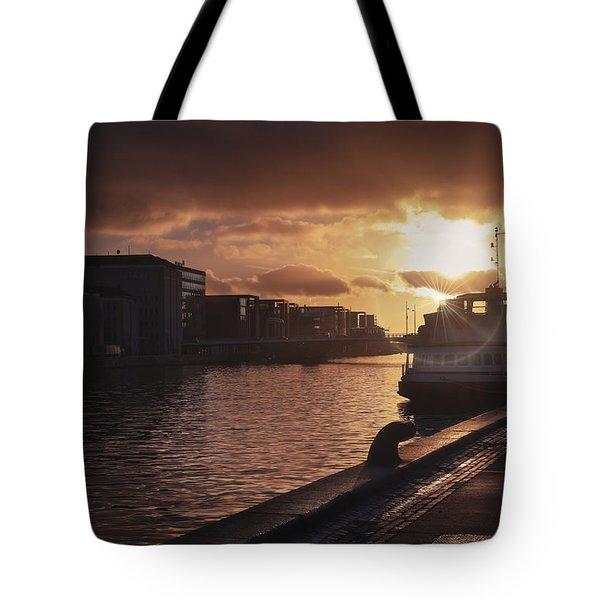 Harbour Sunset Copenhagen Tote Bag