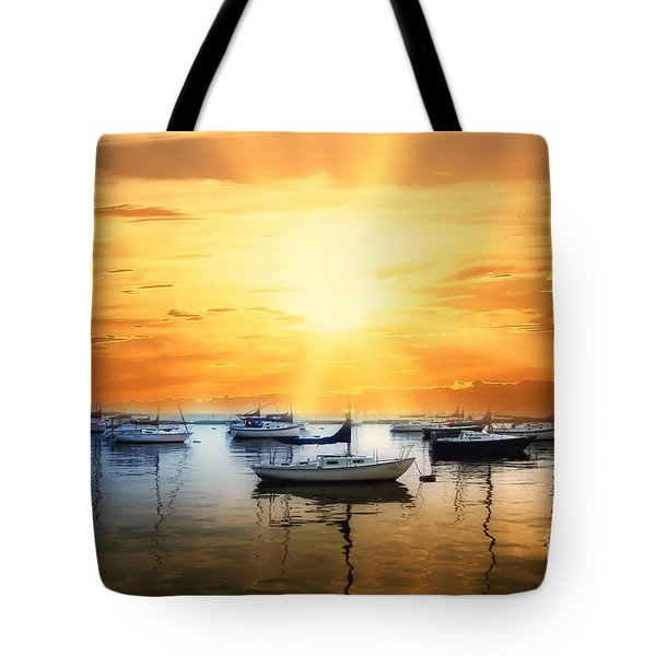 Harbour Sunset Tote Bag by Elaine Manley