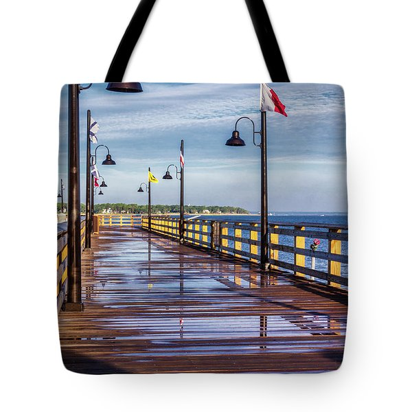 Harbour Town Pier Tote Bag