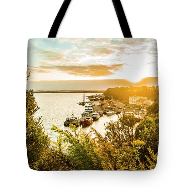 Harbouring A Colourful Vista Tote Bag