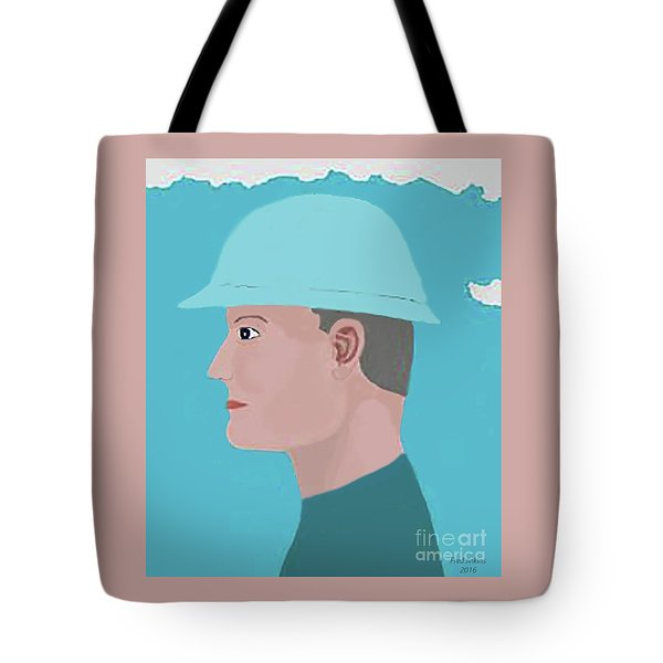 Hard Hat Oil Field Tote Bag by Fred Jinkins