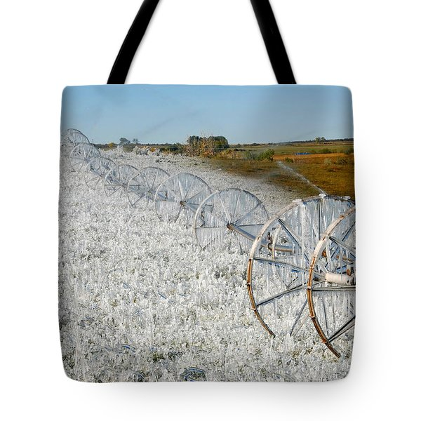 Hard Land Farming Tote Bag by David Lee Thompson