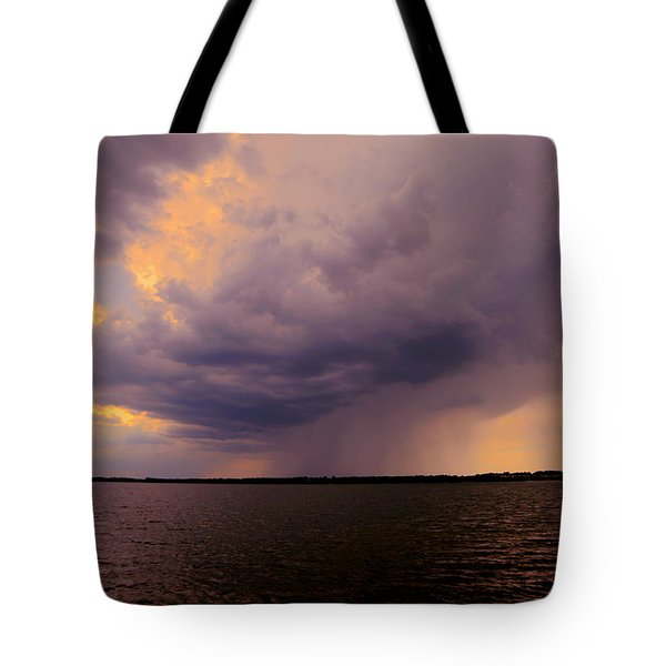Hard Rain's Gonna Fall Tote Bag by Lowlight Images