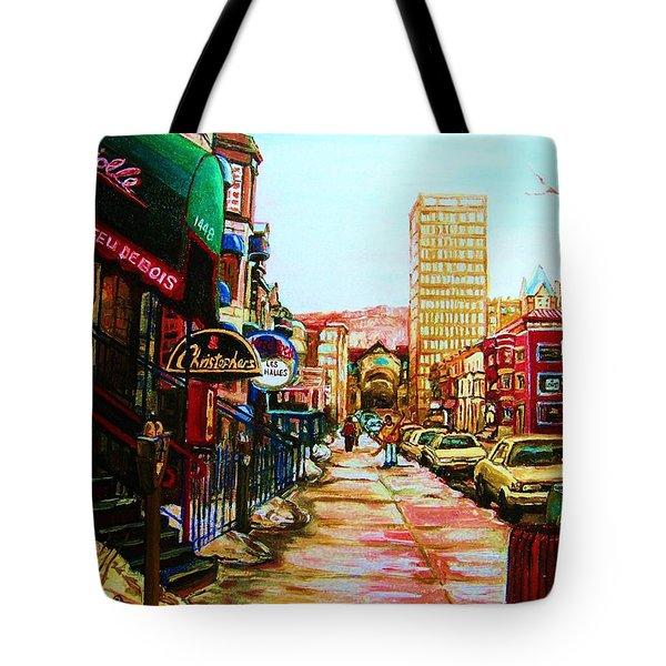 Hard Rock Cafe  Tote Bag by Carole Spandau