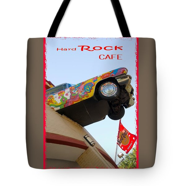 Tote Bag featuring the photograph Hard Rock Cafe N Y by Bob Pardue