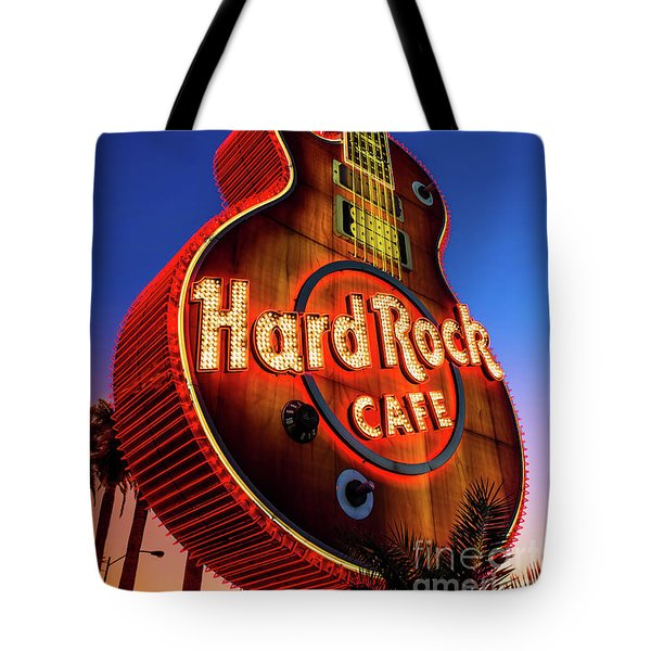 Hard Rock Hotel Guitar At Dawn Tote Bag by Aloha Art