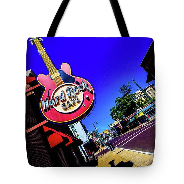 Hard Rockin On Beale Tote Bag