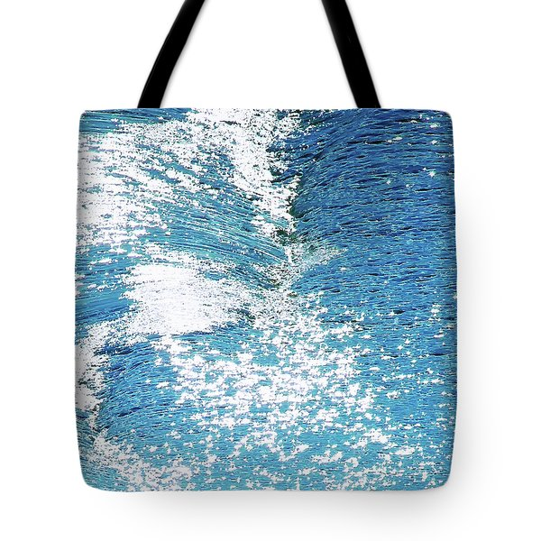Hard Water Abstract Tote Bag by Menega Sabidussi