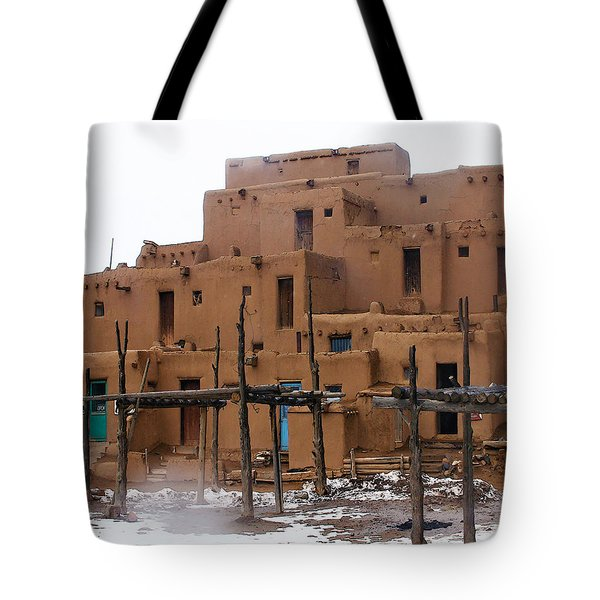 Hard Winter Tote Bag by Terry Fiala