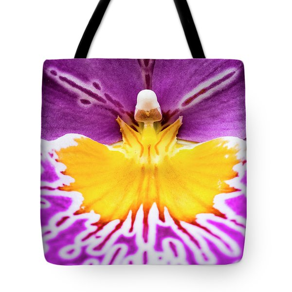 Tote Bag featuring the photograph Hardhat Soldier/orchid by Penny Lisowski