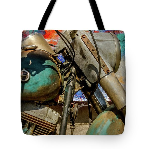 Tote Bag featuring the photograph Harley Davidson - American Icon II by Bill Gallagher
