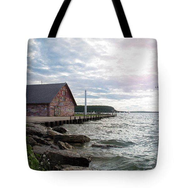 Tote Bag featuring the photograph Hardy Gallery by Joel Witmeyer
