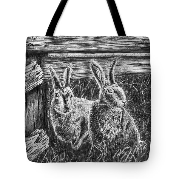 Hare Line  Tote Bag by Peter Piatt