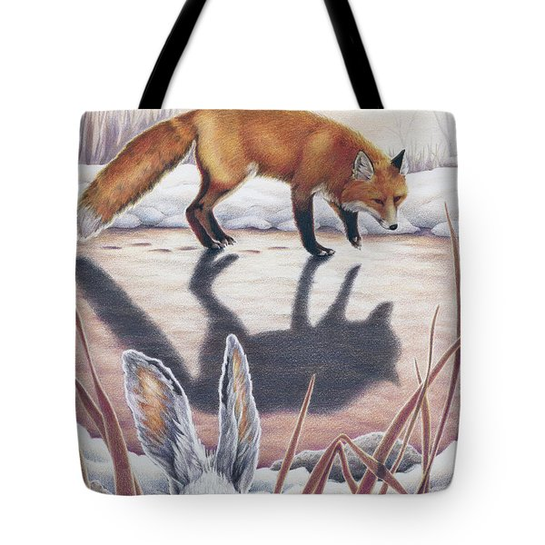 Hare Stands On End Tote Bag by Amy S Turner