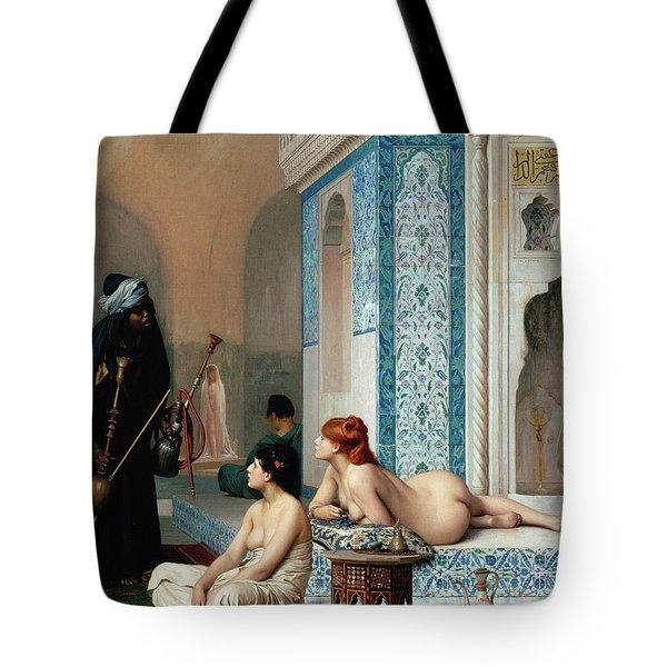 Harem Pool, Jean-leon Gerome Tote Bag