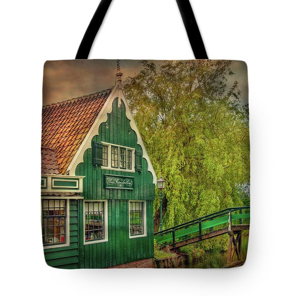 Tote Bag featuring the photograph Haremakerij At The Brook by Hanny Heim