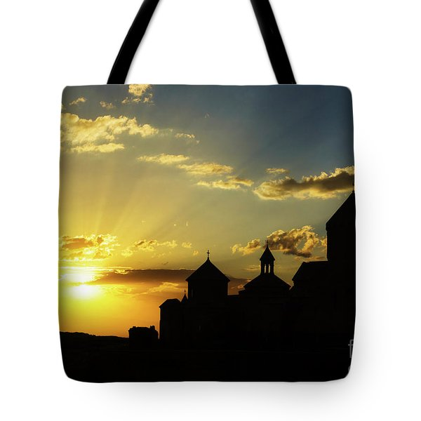 Harichavank Monastery At Sunset, Armenia Tote Bag