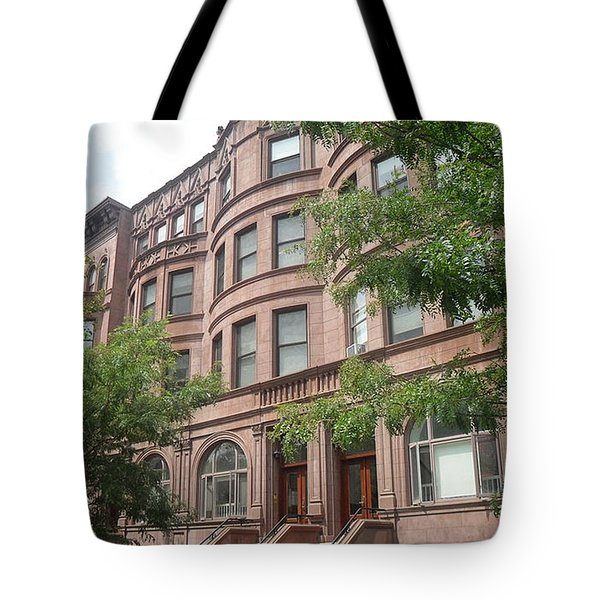 Tote Bag featuring the photograph Harlem Brownstones by Vannetta Ferguson