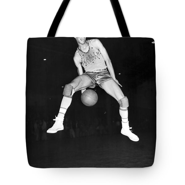 Harlem Clowns Basketball Tote Bag by Underwood Archives