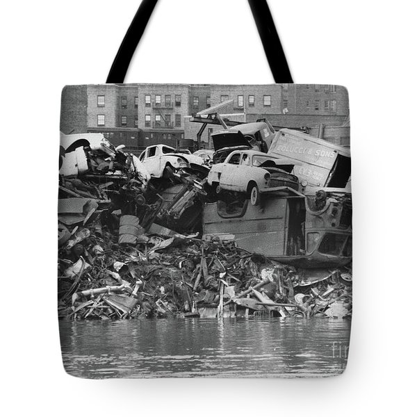 Harlem River Junkyard, 1967 Tote Bag by Cole Thompson