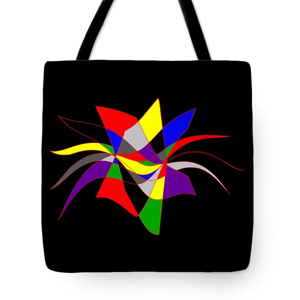 Harlequin Flower Tote Bag by Methune Hively