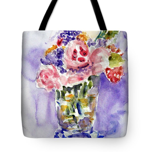 Harlequin Or Bright Side Of Life Tote Bag by Jasna Dragun