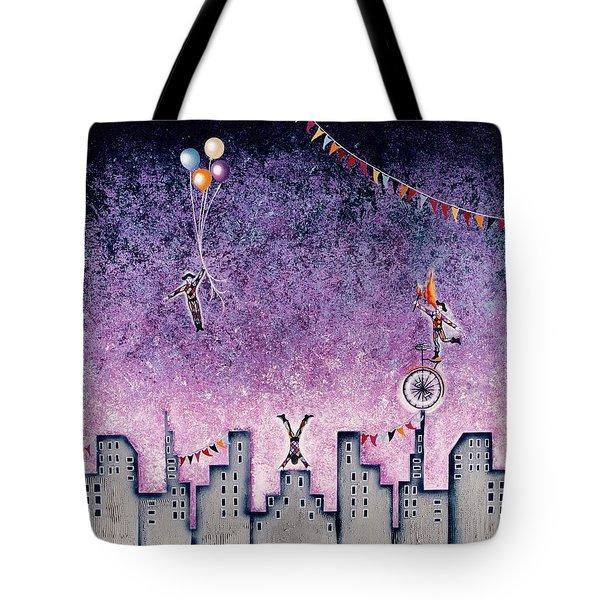 Harlequins Festival Tote Bag by Graciela Bello