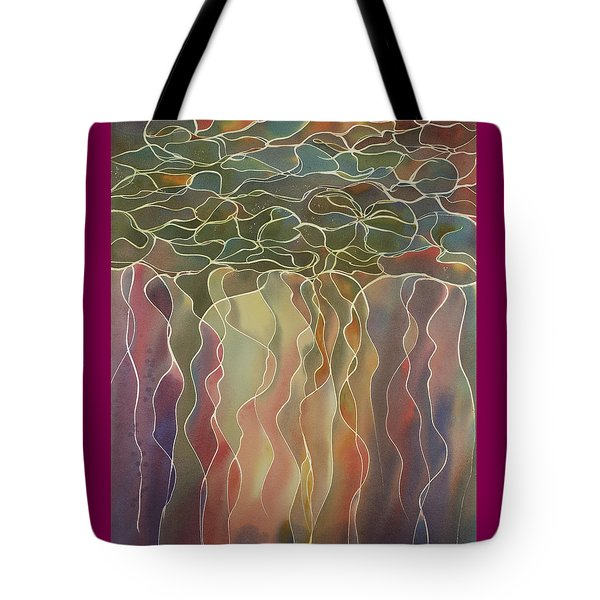 Harlequin Water Lillies Tote Bag
