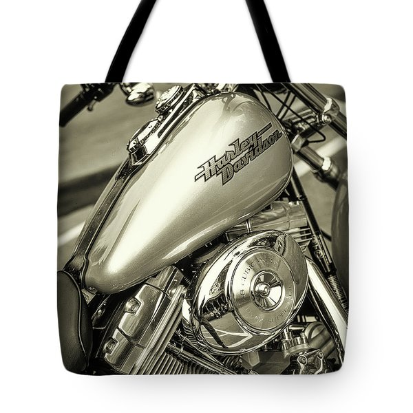 Tote Bag featuring the photograph Harley At Bentley's by Samuel M Purvis III