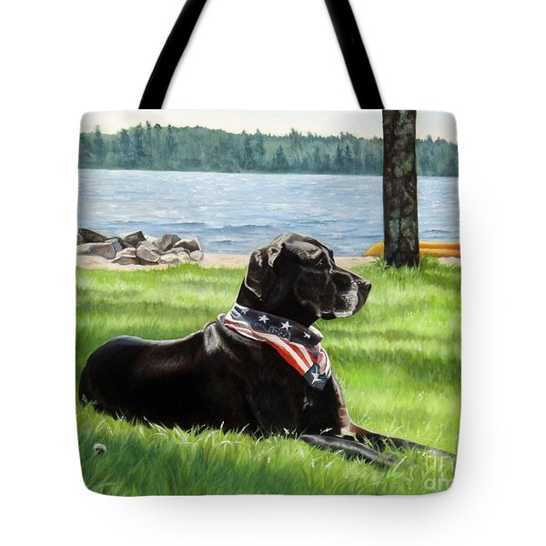 Harley At The Beach Tote Bag