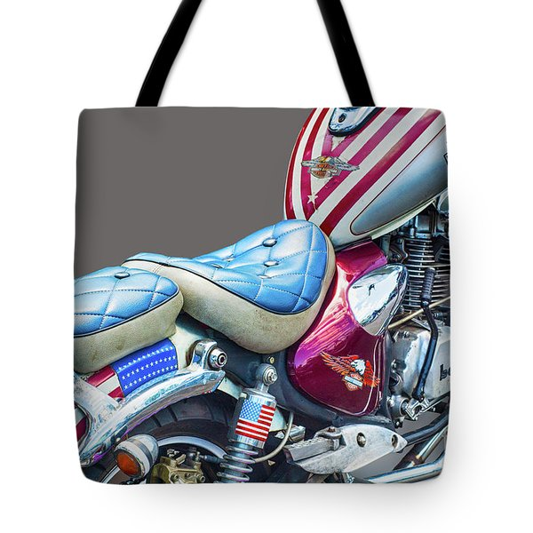 Tote Bag featuring the photograph Harley by Charuhas Images