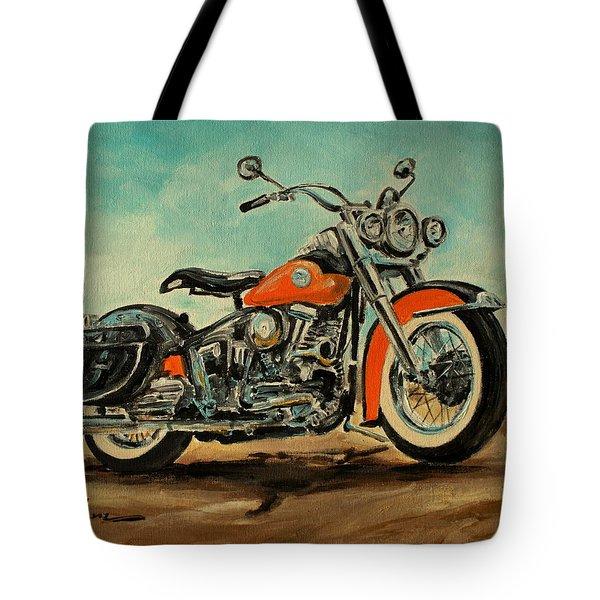 Harley Davidson 1956 Flh Tote Bag