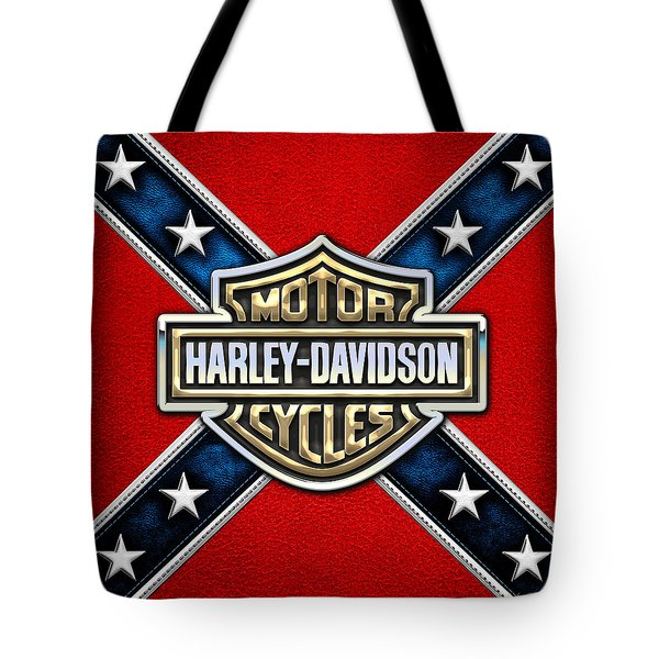Harley-davidson - 3d Badge Tote Bag