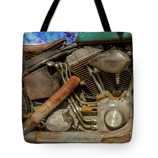 Tote Bag featuring the photograph Harley Davidson - An American Icon by Bill Gallagher