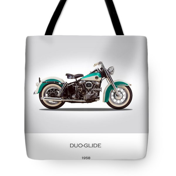 Harley-davidson Duo-glide Tote Bag by Mark Rogan