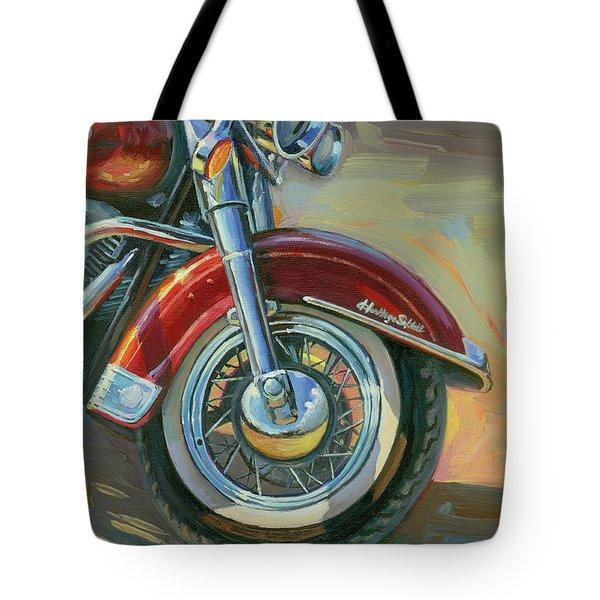 Harley-davidson Heritage Softail Tote Bag