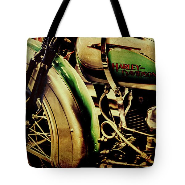 Tote Bag featuring the photograph Harley Davidson by Joel Witmeyer