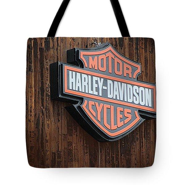 Harley Davidson Sign In West Jordan Utah Photograph Tote Bag