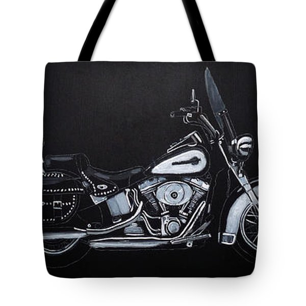 Tote Bag featuring the painting Harley Davidson Snap-on by Richard Le Page
