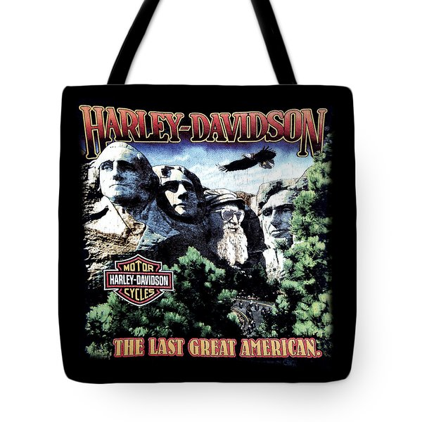 Harley Davidson The Last Great American Tote Bag by Gina Dsgn