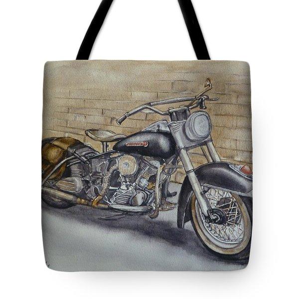 Harley Davidson Vintage 1950's Tote Bag