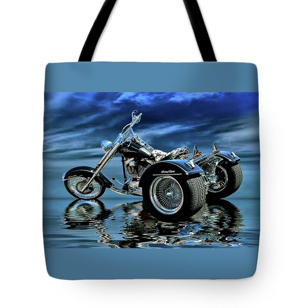 Harley Heritage Soft Tail Trike Tote Bag by Steven Agius