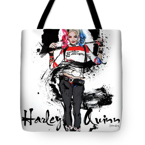 Harley Quinn Tote Bag by Haze Long