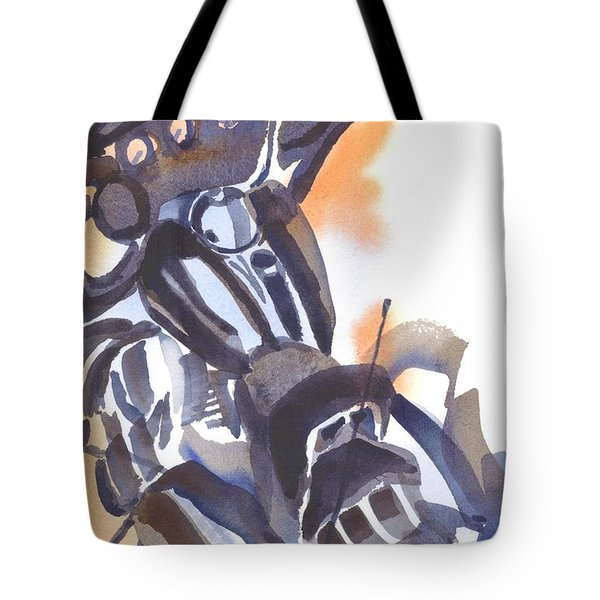 Tote Bag featuring the painting Motorcycle Iv by Kip DeVore
