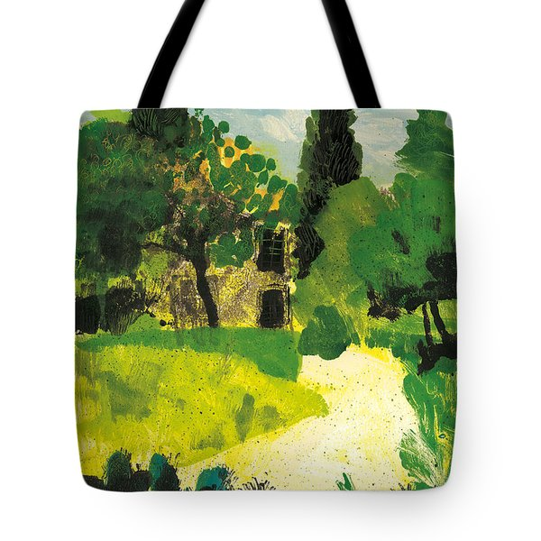 Tote Bag featuring the painting Harmas Henri Fabre Provence Garden by Martin Stankewitz
