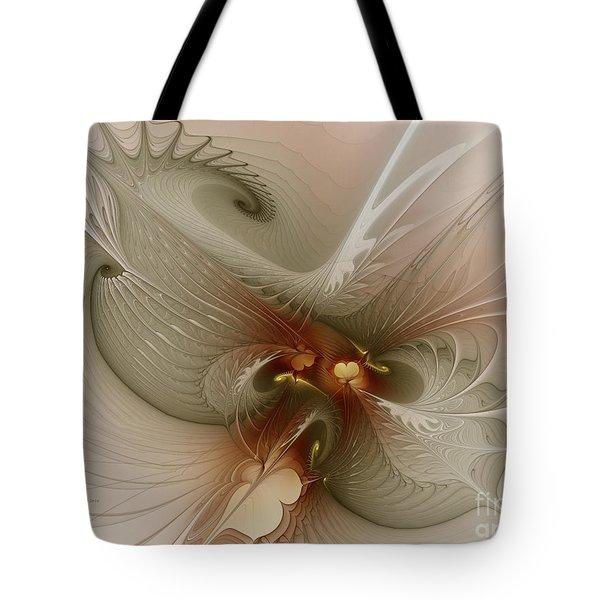 Tote Bag featuring the digital art Harmonius Coexistence by Karin Kuhlmann