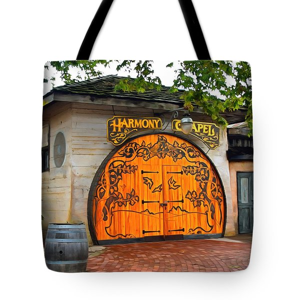 Tote Bag featuring the photograph Harmony Chapel Harmony California by Barbara Snyder