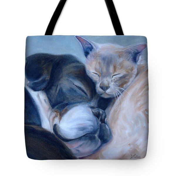 Tote Bag featuring the painting Harmony by Donna Tuten